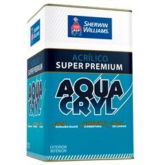 Tinta Acrílica Fosca Super Premium Aquacryl Branca 18 Litros - Sherwin Williams