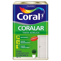 Tinta Acrílica Fosco Coralar Branco 18 Litros - Coral
