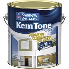 Tinta Acrílica Kem Tone Branco Gelo 3,6 Litros - Sherwin Williams