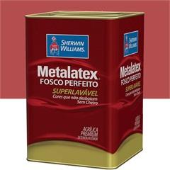 Tinta Acrílica Metalatex Fosco Perfeito Vermelho Rústico 18 Litros - Sherwin Williams