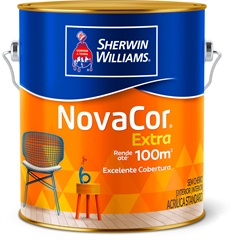 Tinta Acrílica Novacor Extra Standard Fosco Areia 3,6 Litros - Sherwin Williams