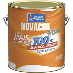 Tinta Acrílica Novacor Extra Standard Fosco Bianco Sereno 3,6 Litros - Sherwin Williams