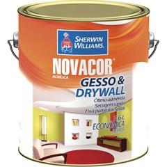 Tinta Acrílica Novacor Gesso & Drywall Branco 3,6 Litros - Sherwin Williams