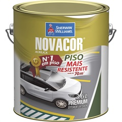 Tinta Acrílica Novacor Piso Mais Resistente Premium Amarelo 3,6 Litros - Sherwin Williams