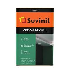 Tinta Acrílica para Gesso E Drywall Branca 18 Litros - Suvinil