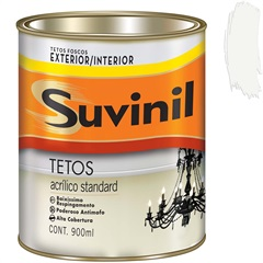 Tinta Acrílica para Tetos Branco 900 Ml - Suvinil