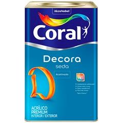 Tinta Acrílica Premium Acetinado Decora Seda Branco 18 Litros - Coral