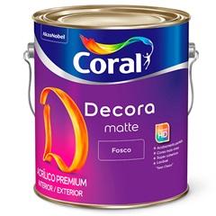 Tinta Acrílica Premium Fosca Decora Matte Branco 3,6 Litros - Coral