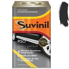 Tinta Acrílica Premium Fosca para Piso Preto 18 Litros - Suvinil