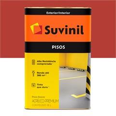 Tinta Acrílica Premium Fosca para Piso Vermelho 18 Litros - Suvinil