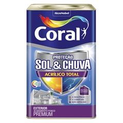 Tinta Acrílica Premium Fosca Proteção Sol & Chuva Algas Profundas 18 Litros - Coral
