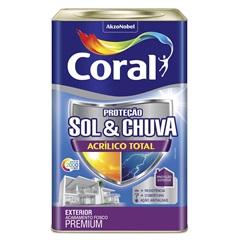 Tinta Acrílica Premium Fosca Proteção Sol & Chuva Areia 18 Litros - Coral