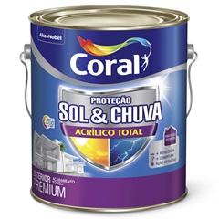 Tinta Acrílica Premium Fosca Proteção Sol & Chuva Areia 3,6 Litros - Coral