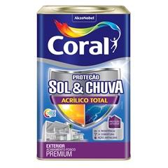 Tinta Acrílica Premium Fosca Proteção Sol & Chuva Trilha Ecológica 18 Litros - Coral