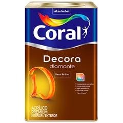 Tinta Acrílica Premium Semi Brilho Decora Diamante Branco 18 Litros - Coral