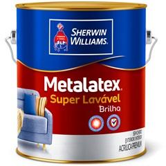 Tinta Acrílica Premium Semi Brilho Metalatex Brilho Perfeito Branco 3,6 Litros - Sherwin Williams
