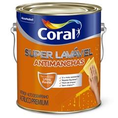 Tinta Acrílica Premium Super Lavável Antimanchas Algodão Egípcio 3,6 Litros - Coral