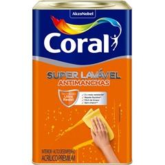 Tinta Acrílica Premium Super Lavável Branca 18 Litros - Coral