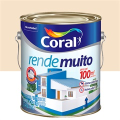 Tinta Acrílica Rende Muito Pérola 3,6 Litros - Coral