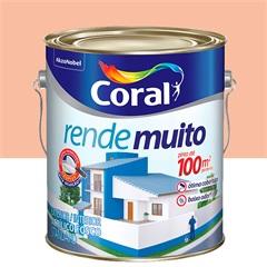 Tinta Acrílica Rende Muito Pêssego 3,6 Litros - Coral