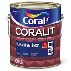Tinta Esmalte Coralit Fosco Preto 3,6 Litros - Coral