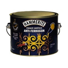 Tinta Esmalte Hammerite Brilhante Cinza Anti-Ferrugem 2,4 Litros