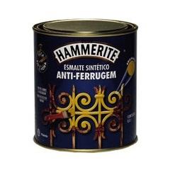 Tinta Esmalte Hammerite Brilhante Preto Anti-Ferrugem 800ml
