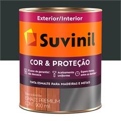Tinta Esmalte Premium Acetinada Cor & Proteção Preto Fosco 900ml - Suvinil
