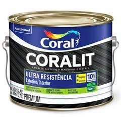 Tinta Esmalte Premium Acetinado Coralit Ultra Resistência Branco 2,4 Litros - Coral