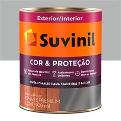 Tinta Esmalte Premium Brilhante Cor & Proteção Alumínio 900ml - Suvinil