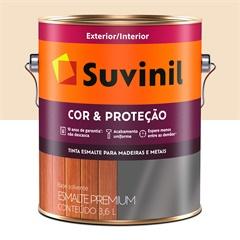 Tinta Esmalte Premium Brilhante Cor & Proteção Areia Claro 3,6 Litros - Suvinil