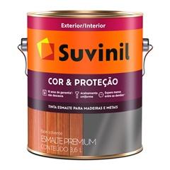 Tinta Esmalte Premium Brilhante Cor & Proteção Marrom 3,6 Litros - Suvinil