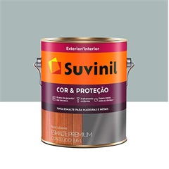 Tinta Esmalte Premium Brilhante Cor & Proteção Platina 3,6 Litros - Suvinil