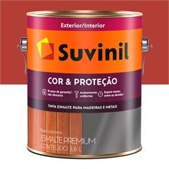 Tinta Esmalte Premium Brilhante Cor & Proteção Vermelho 3,6 Litros - Suvinil