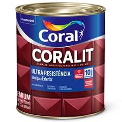 Tinta Esmalte Sintético Premium Brilhante Coralit Tradicional Amarelo 900ml - Coral