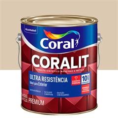 Tinta Esmalte Sintético Premium Brilhante Coralit Tradicional Areia 3,6 Litros - Coral