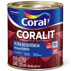 Tinta Esmalte Sintético Premium Brilhante Coralit Tradicional Branco 225ml - Coral