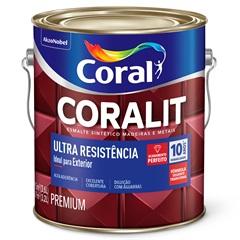 Tinta Esmalte Sintético Premium Brilhante Coralit Tradicional Branco 3,6 Litros - Coral