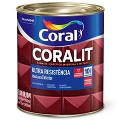 Tinta Esmalte Sintético Premium Brilhante Coralit Tradicional Branco 900ml - Coral