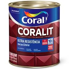 Tinta Esmalte Sintético Premium Brilhante Coralit Tradicional Cinza Escuro 900ml - Coral
