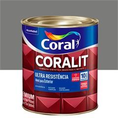 Tinta Esmalte Sintético Premium Brilhante Coralit Tradicional Cinza Médio 900ml - Coral