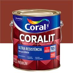 Tinta Esmalte Sintético Premium Brilhante Coralit Tradicional Colorado 3,6 Litros - Coral