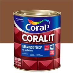 Tinta Esmalte Sintético Premium Brilhante Coralit Tradicional Conhaque 900ml - Coral