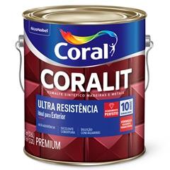 Tinta Esmalte Sintético Premium Brilhante Coralit Tradicional Creme 3,6 Litros - Coral