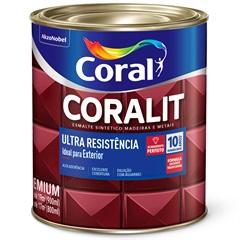 Tinta Esmalte Sintético Premium Brilhante Coralit Tradicional Gelo 900ml - Coral