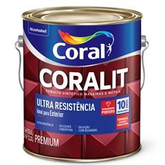 Tinta Esmalte Sintético Premium Brilhante Coralit Tradicional Marfim 3,6 Litros - Coral