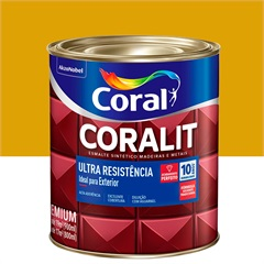 Tinta Esmalte Sintético Premium Brilhante Coralit Tradicional Ouro 900ml - Coral
