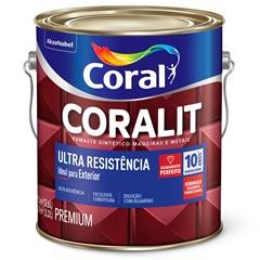 Tinta Esmalte Sintético Premium Brilhante Coralit Tradicional Platina 3,6 Litros - Coral