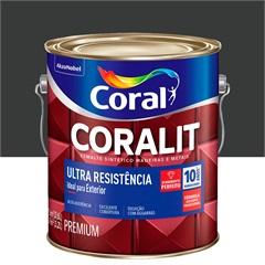 Tinta Esmalte Sintético Premium Brilhante Coralit Tradicional Preto 3,6 Litros - Coral