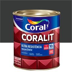 Tinta Esmalte Sintético Premium Brilhante Coralit Tradicional Preto 900ml - Coral